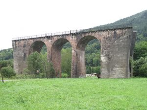 Remnants of the viaduct between Bussang and Urbes which was never achieved (Vosges, France).