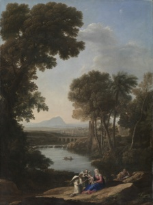 Claude Lorrain, Landscape with the Rest on the Flight into Egypt, 1645, The Cleveland Museum