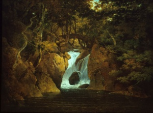 Joseph Wright of Derby, Rydal Waterfall, 1795, Derby Art Gallery