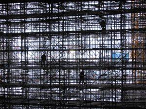 Construction work at the Lehrter Bahnhof, Berlin. Phoo by Tup Wanders