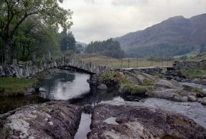 Slater's Bridge over the River Brathay between Little Langdale and Coniston, Cumbria