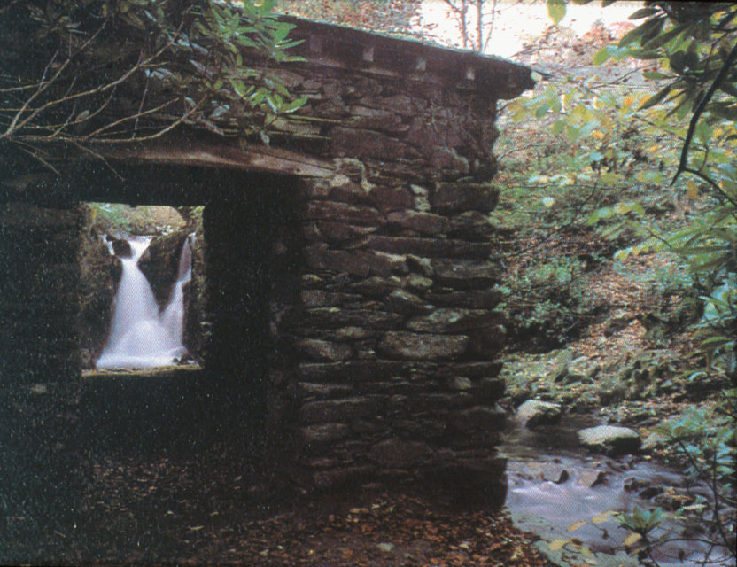 Lower Rydal Falls with Summer House
