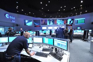 Main Control Room / Mission Control Room of ESA at the European Space Operations Centre (ESOC) in Darmstadt, Germany.
