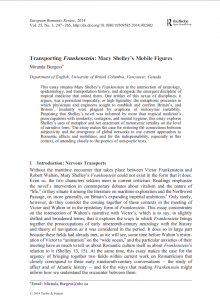 "Miranda Burgess, ""Transporting Frankenstein: Mary Shelley's Mobile Figures"" (2014)"