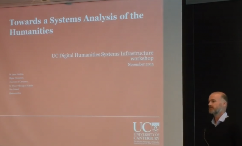 Humanities Systems Infrastructure workshop, U. Canterburgy, Nov. 12, 2015