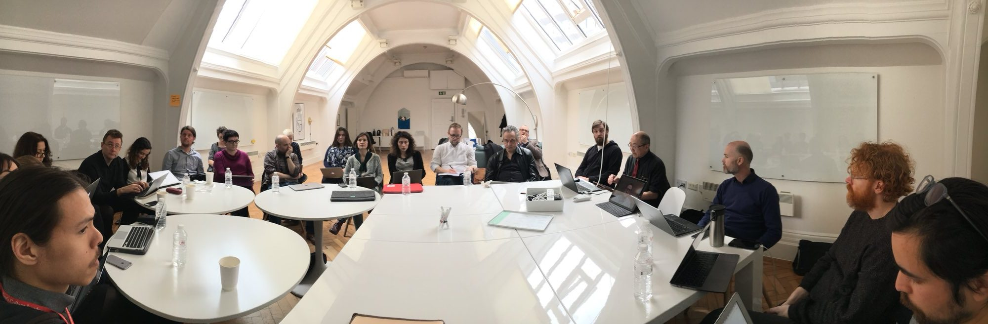 Critical Infrastructure Studies workshop, hosted by King's Digital Humanities Lab, March 29, 2018. Photo by Jonathan Gray.