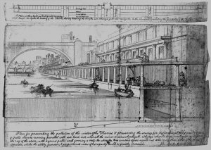 Plan of The Thames Embankment for Sewage Recycling. Lithograph by John Martin, 2nd June 1834